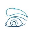 Eye pop art cartoon vector image