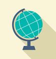Flat Design Desktop Globe vector image