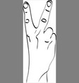 isolated silhouette of the hand that vector image