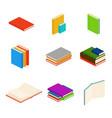 isometric books encyclopedia dictionary novel vector image