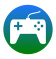 joystick simple sign white icon in bluish vector image