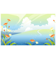 Landscape with clouded sky vector image