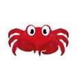 Marine crab cartoon vector image