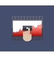 modern flat ui icon on blue background vector image