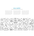 set winter icon vector image