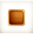 Wooden box app icon vector image