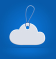 Cloud shaped tag label vector image vector image