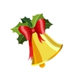 Gold Christmas bell vector image