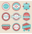 Set stickers and badges for Christmas cards vector image vector image