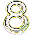 Organic Font number 8 vector image