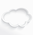 Cloud computing frame vector image vector image