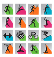 Sport colorful icons vector image
