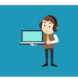 Manager with Laptop vector image