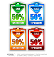 arrow tags vector image vector image