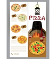 booklet flyer leaflet menu for pizza vector image vector image