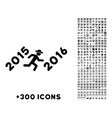 Run To 2016 Year Icon vector image