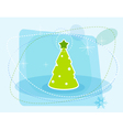 cartoon christmas tree vector image vector image