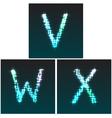 V W X vector image