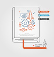 Vocational Training Infographics Book vector image