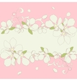 Apple blossom frame background vector image