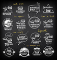 Burgers set of icons menu vector image