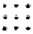 coffee tea 9 icons set vector image