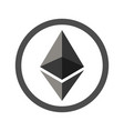 Ethereum sign flat icon for internet money vector image