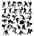 Extreme Sport Silhouettes vector image