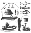 Fishing Icon Set vector image