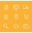 Internet Shopping Icon Set e-commerce vector image