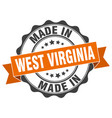 made in west virginia round seal vector image