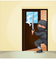 Ninja at home vector image