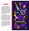 party poster for birthday celebration or disco vector image