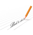 pencil and words vector image