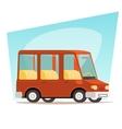 Retro Cartoon Car Family Travel Van Icon Modern vector image