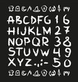 spooky hand drawn horror scary letters vector image