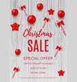 Christmas discount banner template vector image