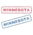 minnesota textile stamps vector image