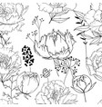 seamless season pattern with contour lack and vector image vector image
