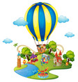 Many kids in amusement park vector image