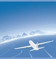 naples skyline flight destination vector image