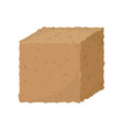 ground cube isolated vector image