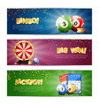 lottery jackpot banners set vector image