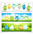 Collection of easter banners vector image