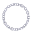 round frame - silver chain on the white background vector image