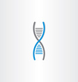 DNA symbol deoxyribonucleic acid icon vector image