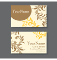 yellow business card vector image