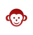 Monkey icon Simple logo design vector image