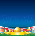Football Euro 2012 Background vector image vector image