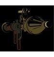 Anti-tank bazooka color rpg on black background vector image